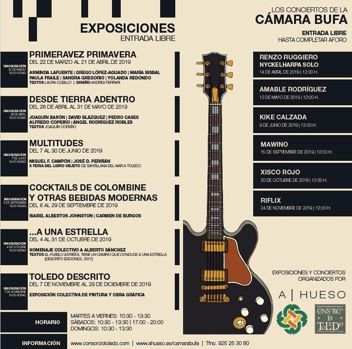 http://www.toledo.es/wp-content/uploads/2019/03/camara-bufa.jpg. Los Conciertos  de la CÁMARA BUFA: XISCO ROJO