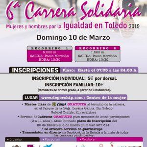 """ª Carrera Solidaria """"Mujeres y hombres por la igualdad en Toledo"""""""
