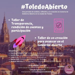 l Ayuntamiento organiza una jornada de reflexión y análisis sobre participación ciudadana bajo el nombre 'Toledo abierto'
