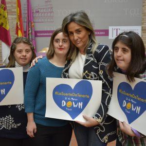 l Ayuntamiento colabora en la Semana de las Personas con Síndrome de Down que lleva por lema 'La suerte de tenerte'