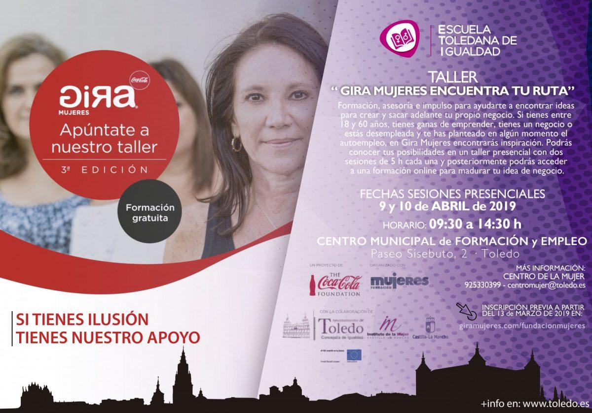 http://www.toledo.es/wp-content/uploads/2019/03/eti-gira-mujeres-fse-1200x839.jpg. TALLER GIRA MUJERES ENCUENTRA TU RUTA. ESCUELA TOLEDANA DE IGUALDAD.
