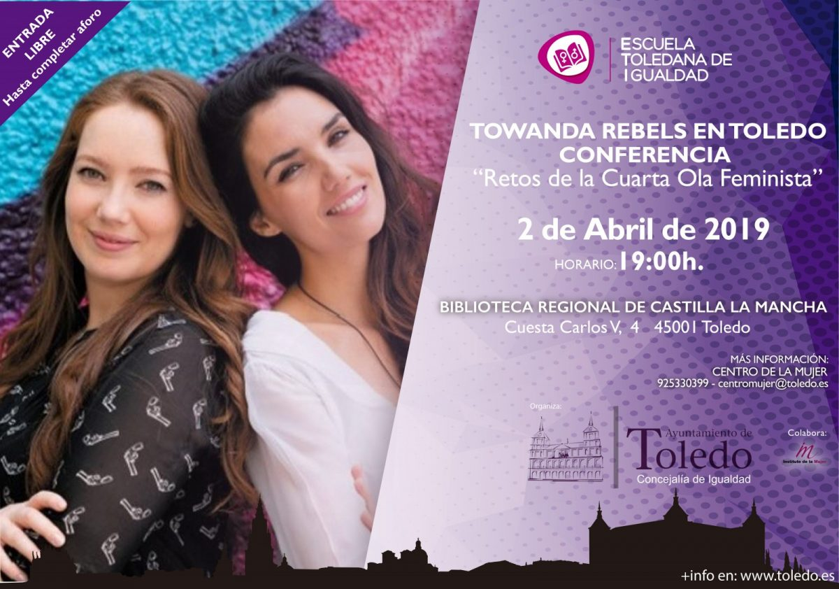 http://www.toledo.es/wp-content/uploads/2019/03/eti-towanda-1200x842.jpg. TOWANDA REBELS EN TOLEDO. ESCUELA TOLEDANA DE IGUALDAD.