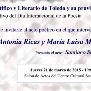Día Internacional de la Poesía: Acto Poético