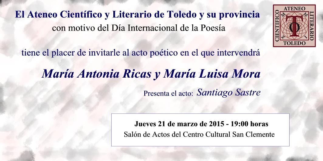 http://www.toledo.es/wp-content/uploads/2019/03/invitacion-acto-poetico.jpg. Día Internacional de la Poesía: Acto Poético