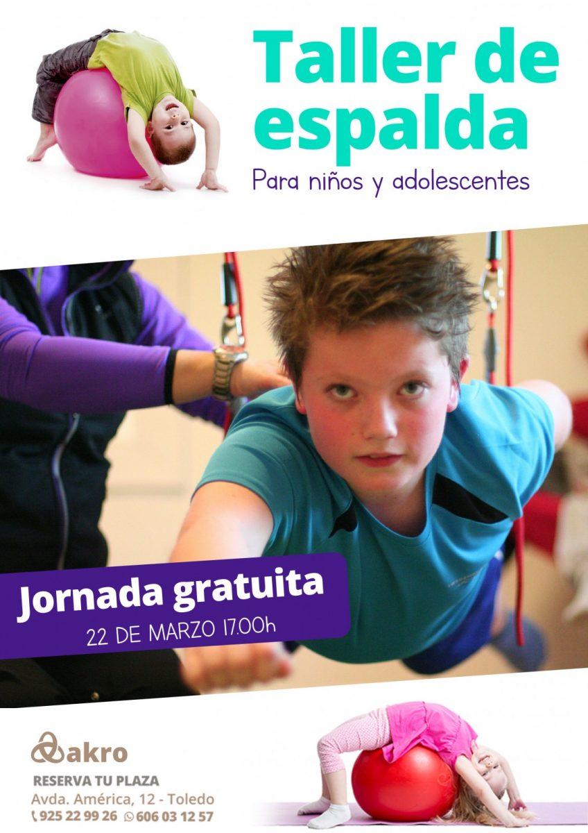 http://www.toledo.es/wp-content/uploads/2019/03/jornada-espalda-ninos-a4-848x1200.jpg. Taller de espalda