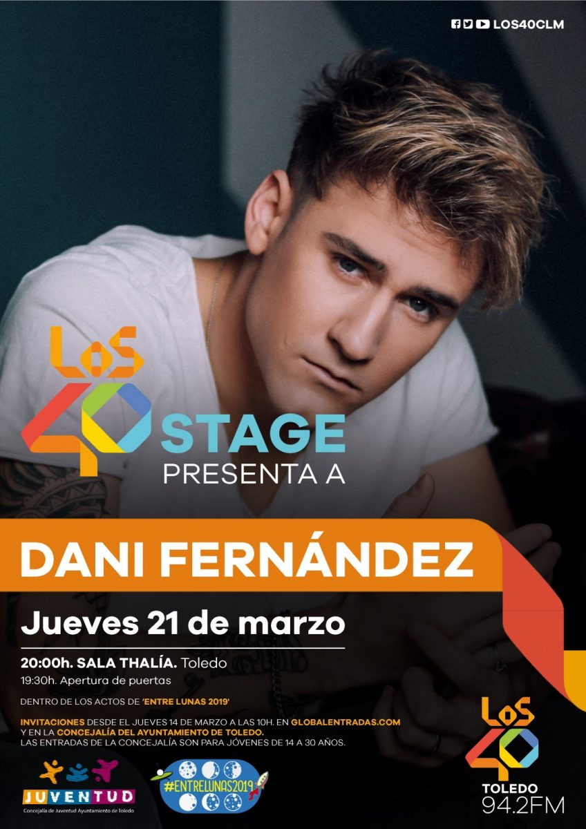 http://www.toledo.es/wp-content/uploads/2019/03/los40-stage-dani-fernandez-toledo-pre-848x1200.jpg. Concierto Los 40 Stage con DANI FERNÁNDEZ