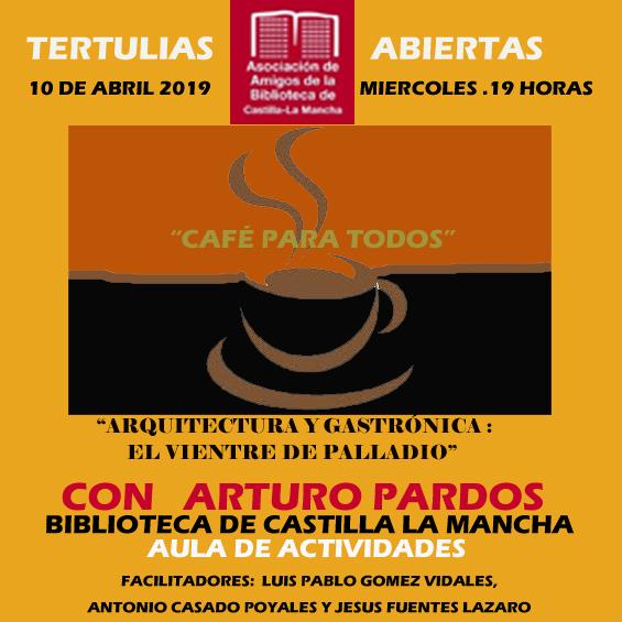 """http://www.toledo.es/wp-content/uploads/2019/03/marzo-2019-copia.jpg. Tertulias abiertas """"Café para todos"""""""