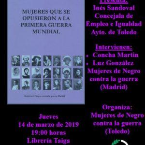 PRESENTACIÓN DEL LIBRO: Mujeres que se opusieron a la I Guerra Mundial