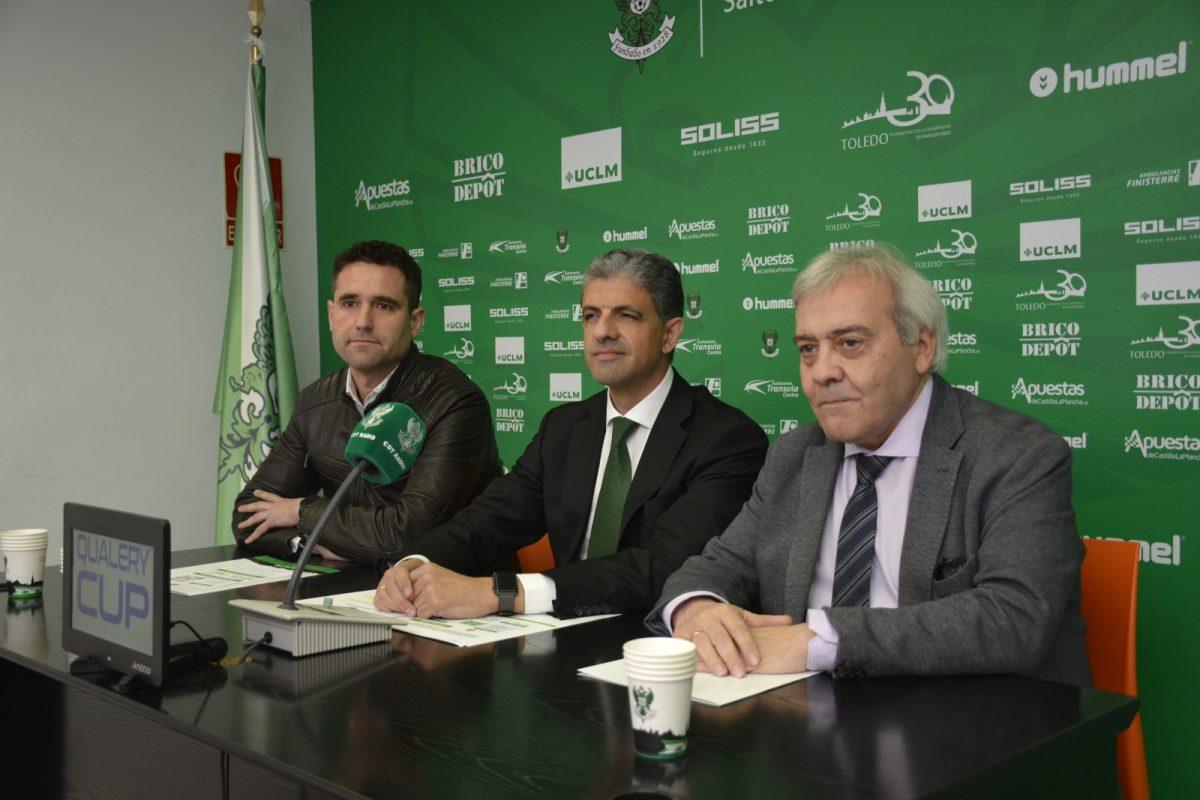 http://www.toledo.es/wp-content/uploads/2019/03/presentacion-cd-toledo-1200x800.jpg. El Ayuntamiento respalda la 'Qualery Cup', primer torneo de promoción del CD Toledo que se disputará en el 'Salto del Caballo'