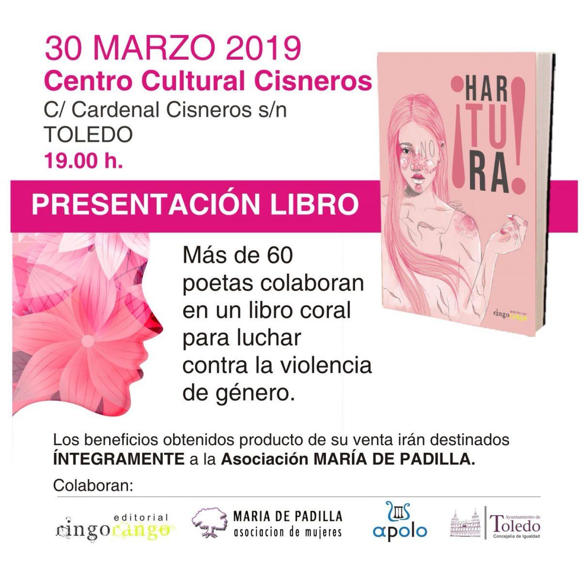 http://www.toledo.es/wp-content/uploads/2019/03/presentacion-libro-hartura-1200x1181.jpg. PRESENTACIÓN DEL LIBRO ¡HARTURA!