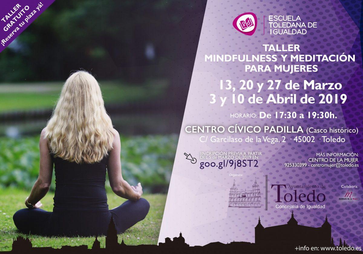 http://www.toledo.es/wp-content/uploads/2019/03/taller-mindfulness-marzo-abril-1200x842.jpg. TALLER MINDFULNESS Y MEDITACIÓN PARA MUJERES. ESCUELA TOLEDANA DE IGUALDAD.
