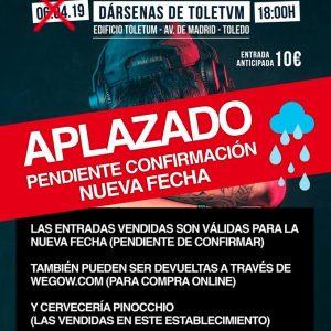 yuntamiento y promotores estudian fijar una nueva fecha para el festival 'Toledo en concierto' por la previsión de lluvias el 6 de abril