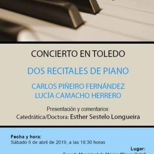 CONCIERTO DOS RECITALES DE PIANO