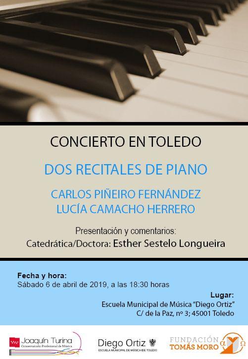 http://www.toledo.es/wp-content/uploads/2019/04/concierto-tomas-moro.jpg. CONCIERTO DOS RECITALES DE PIANO