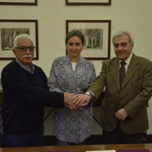 a alcaldesa suscribe el convenio que permitirá a la Unión de Radioaficionados Españoles la instalación de un nuevo repetidor