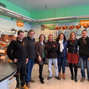 ilagros Tolón visita en el Polígono las nuevas instalaciones de 'Cabello máquinas y equipos' con más de tres décadas de trayectoria