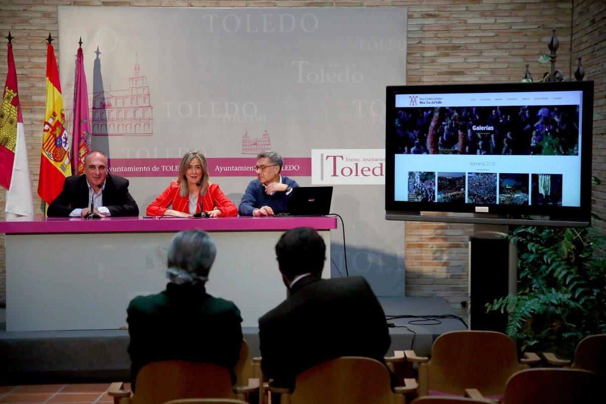 http://www.toledo.es/wp-content/uploads/2019/04/webcofradia-1-1200x800.jpeg. Milagros Tolón destaca el impulso que la Cofradía del Valle destina a ampliar la oferta cultural de la ciudad y a engrandecer su romería