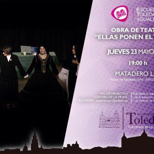 Ellas ponen el título' es la obra teatral que propone la Escuela Toledana de Igualdad para este jueves en Matadero Lab
