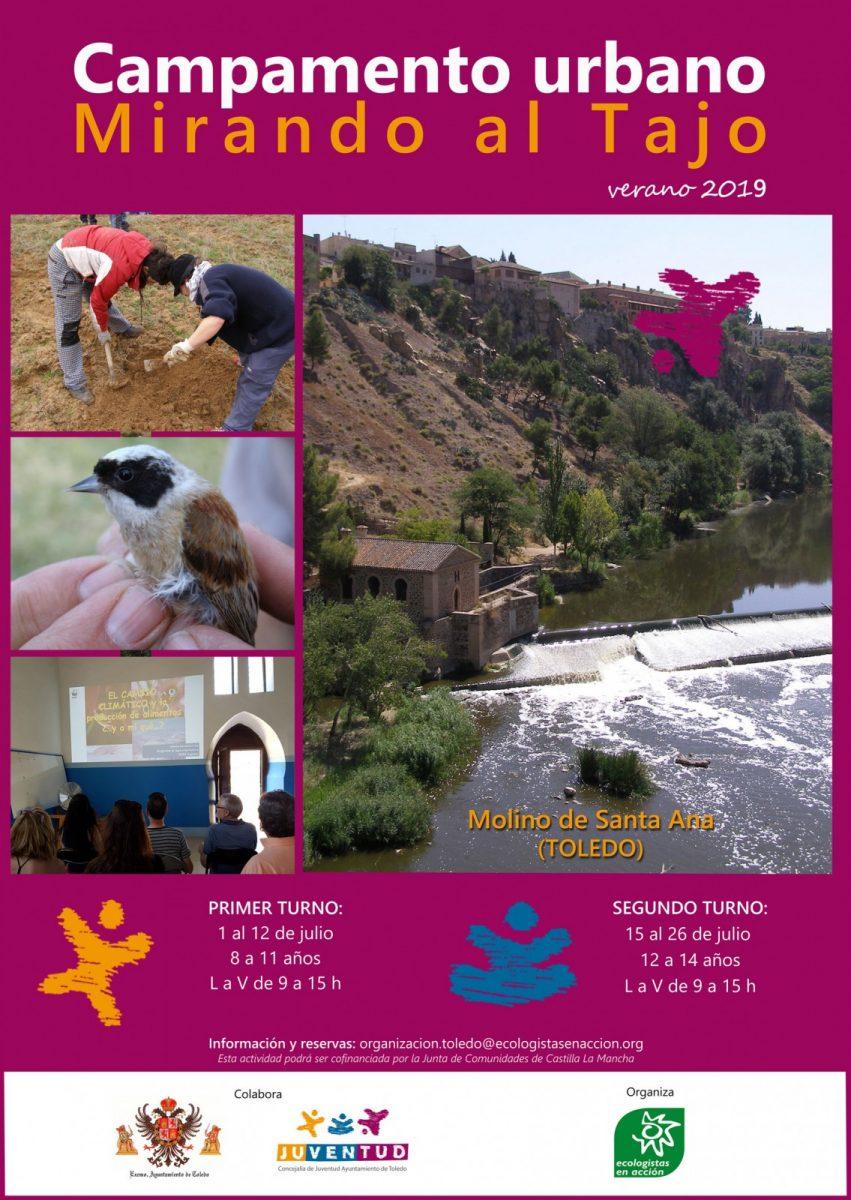 http://www.toledo.es/wp-content/uploads/2019/05/cartel_campamento_molino_verano_19_web-851x1200.jpg. Abierto el plazo de inscripciones del campamento urbano 'Mirando al Tajo' para concienciar a los jóvenes sobre el medio natural