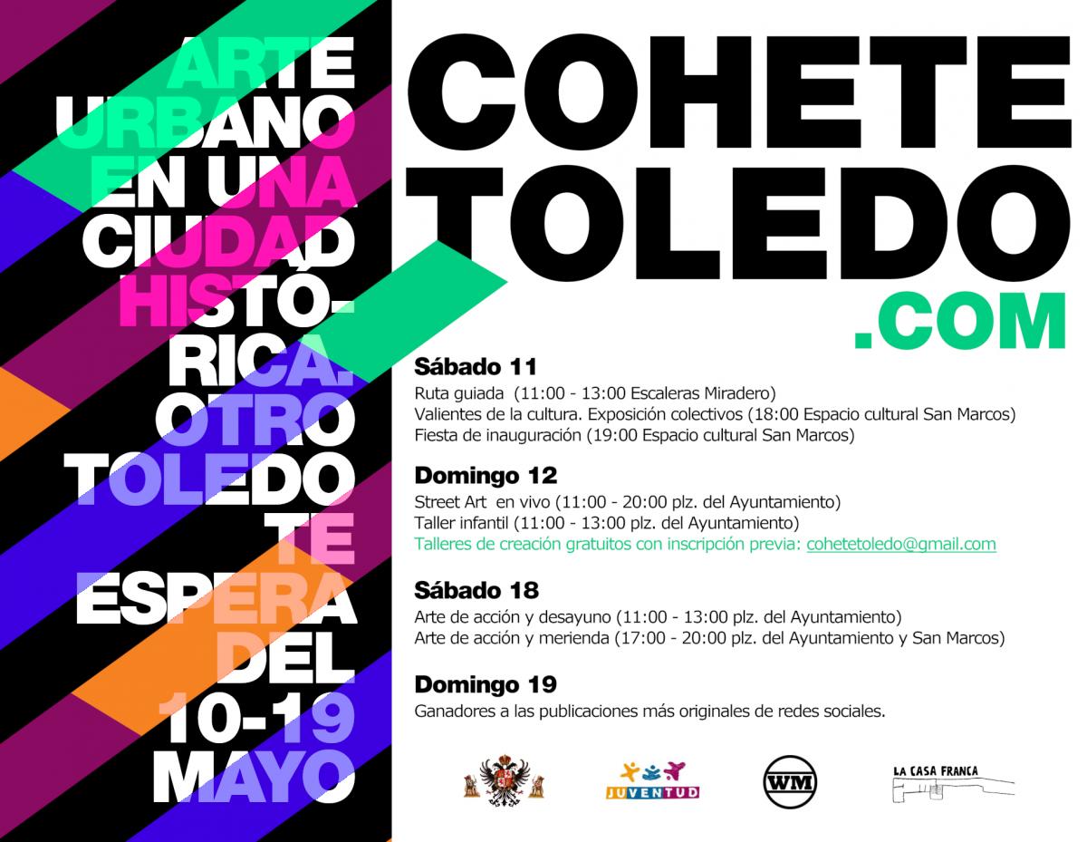 http://www.toledo.es/wp-content/uploads/2019/05/cohete-19-programacion2_low-1200x929.png. Festival COHETE TOLEDO 2019