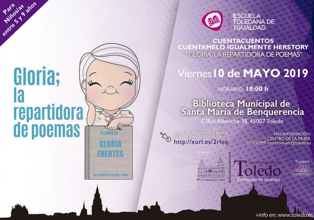"""http://www.toledo.es/wp-content/uploads/2019/05/cuentacuentos-10-mayo-1200x842.jpg. ETI. CUENTACUENTOS """"CUÉNTAMELO IGUALMENTE HERSTORY"""" 10 MAYO 2019"""