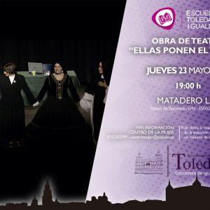 """BRA DE TEATRO """"ELLAS PONEN EL TÍTULO"""". ESCUELA TOLEDANA DE IGUALDAD."""