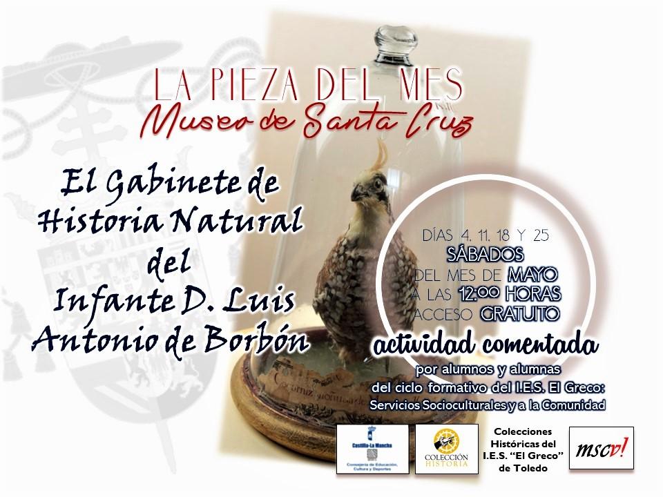 """https://www.toledo.es/wp-content/uploads/2019/05/gabinete-historia-natural.png. Exposición """"La Pieza del Mes"""": El Gabinete de Historia Natural del Infante D. Luis Antonio de Borbón"""
