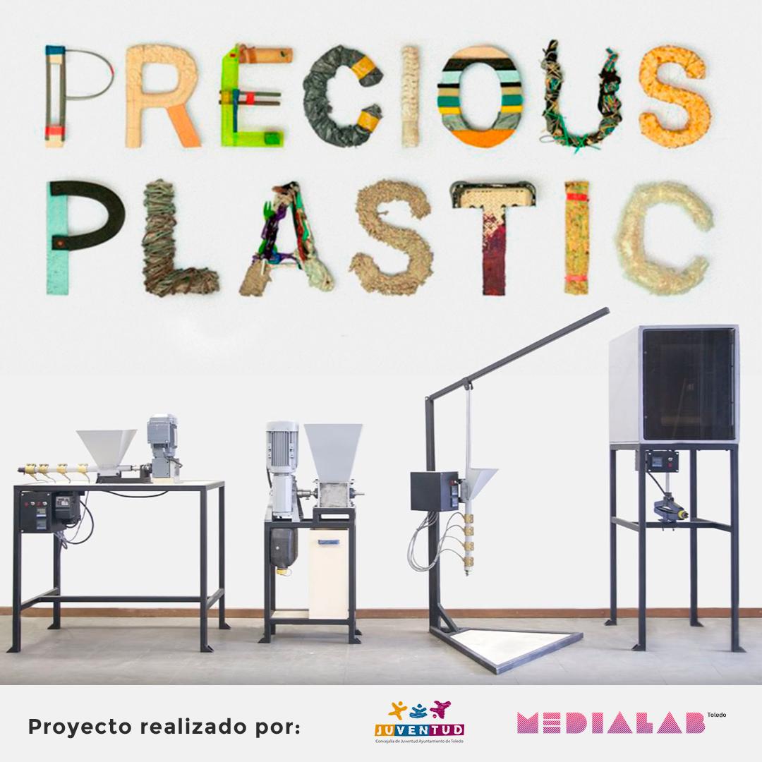 http://www.toledo.es/wp-content/uploads/2019/05/imagen-preciousplastics-ayto-juventud19-1080-2.png. Precious Plastic: Taller de reciclaje