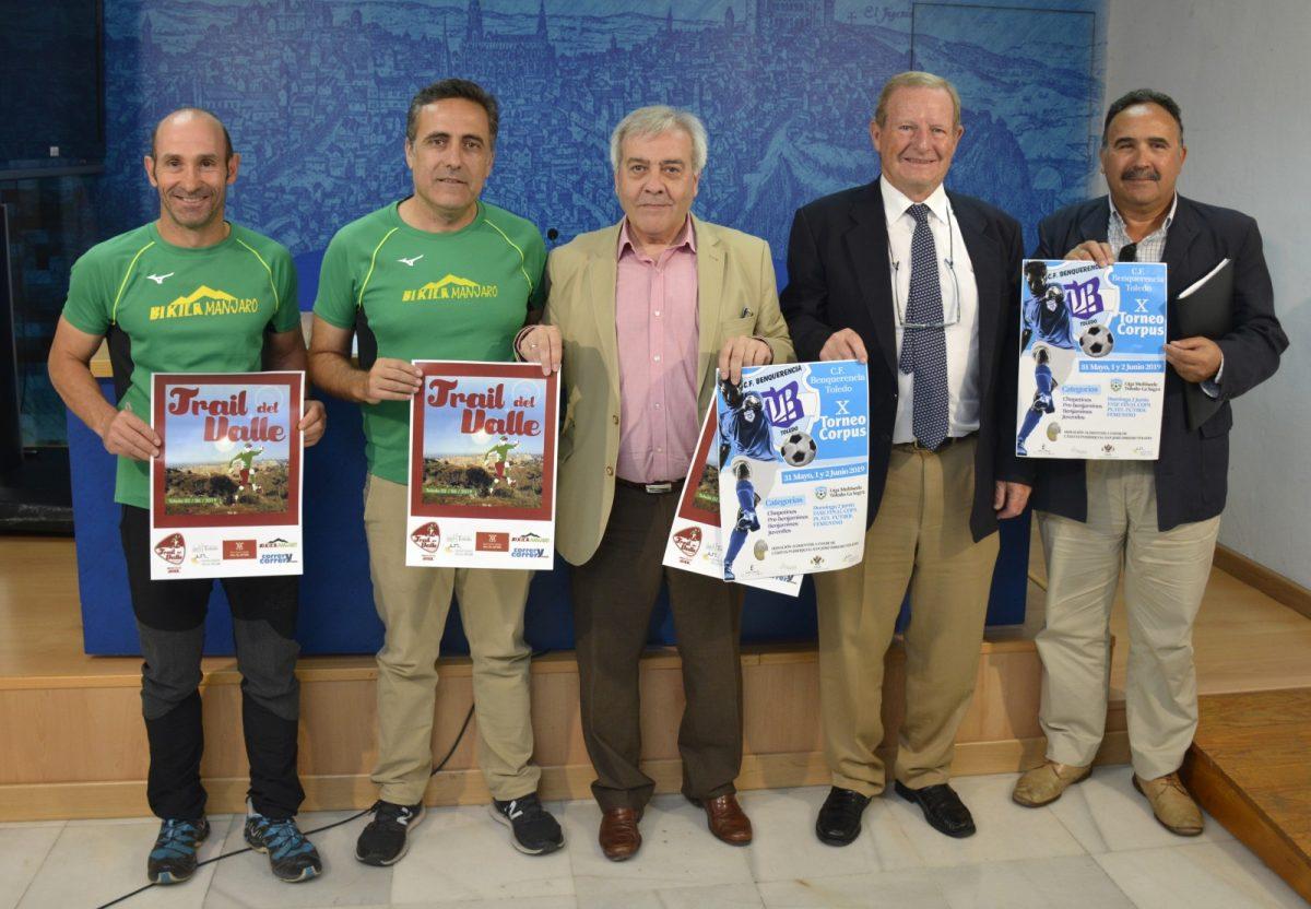 http://www.toledo.es/wp-content/uploads/2019/05/presentacion-eventos-deportivos-1200x832.jpg. El X Torneo Corpus-Benquerencia, la II Copa de Plata de Fútbol Femenino y el I Trail del Valle, eventos deportivos del fin de semana