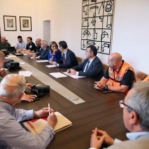 a alcaldesa preside la Junta de Seguridad Local del Corpus en la que se establecen los protocolos para el buen desarrollo de la fiesta