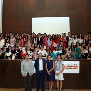 a alcaldesa amadrina la graduación de los alumnos y alumnas de 4º de la ESO del Carlos III y destaca su esfuerzo, dedicación y talento