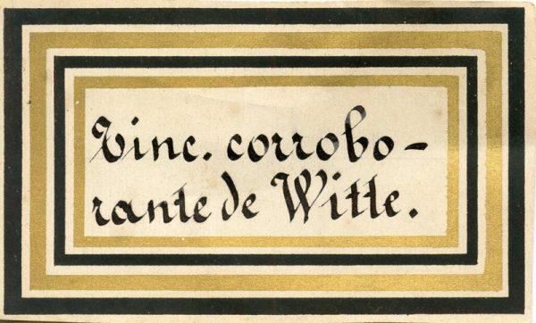 188_Tintura Corroborante de Witte
