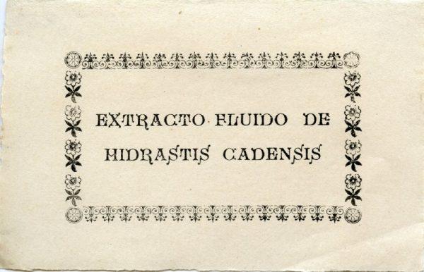 223_Extracto Fluido de Hidrastis Cadensis