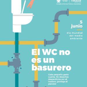 yuntamiento y Tagus alertan de las consecuencias de arrojar residuos al inodoro con motivo del Día Mundial del Medio Ambiente