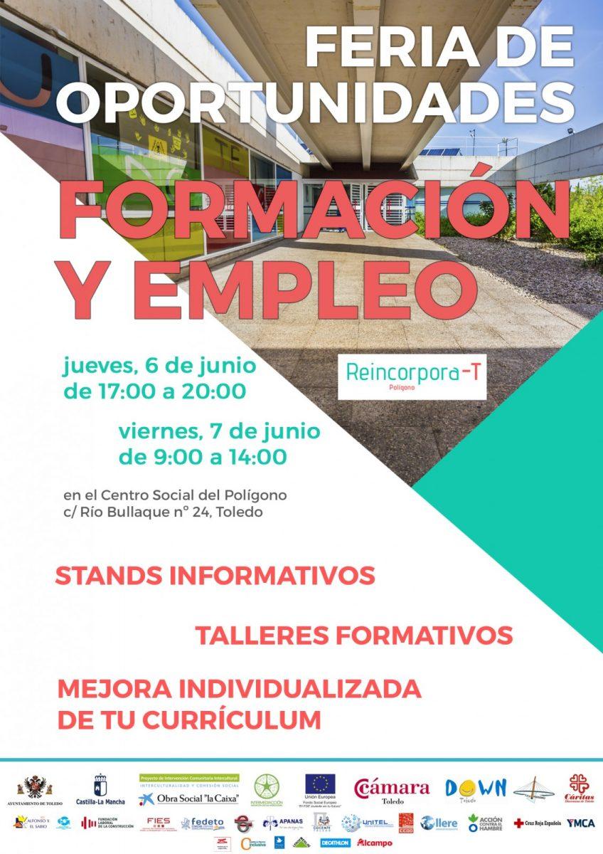 http://www.toledo.es/wp-content/uploads/2019/06/cartel-feria-oportunidades-848x1200.jpg. FERIA DE OPORTUNIDADES DE FORMACION PARA EL EMPLEO. 6 y 7 de Junio.