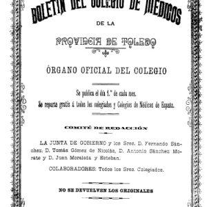 l Archivo Municipal incorpora a su web el Boletín Oficial del Colegio de Médicos de Toledo (1901-1936)