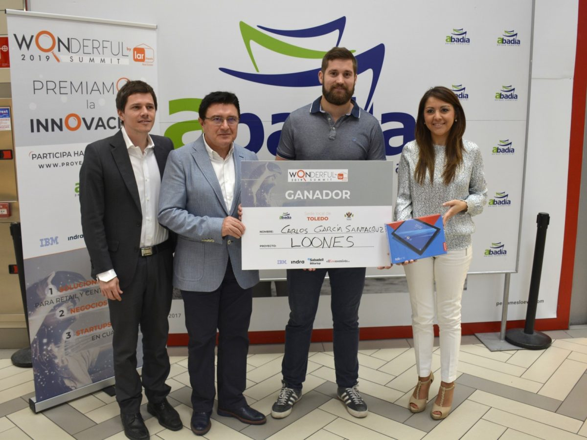 https://www.toledo.es/wp-content/uploads/2019/06/entrega-premio-wonderful-01-1200x901.jpg. La startup toledana 'Loones', ganadora de la tercera edición del concurso de innovación 'Wonderful' respaldado por el Consistorio
