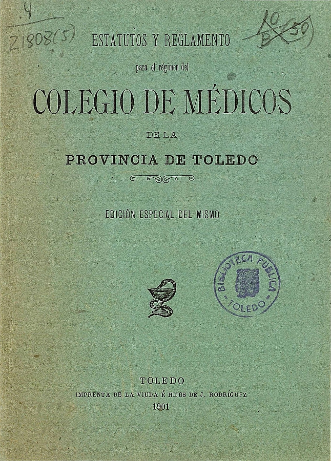 https://www.toledo.es/wp-content/uploads/2019/06/estatutos_portada-1.jpg. Toledo y su Colegio Oficial de Médicos. Nueva exposición