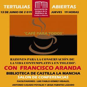 """Ciclo de tertulias abiertas """"Café para todos"""""""