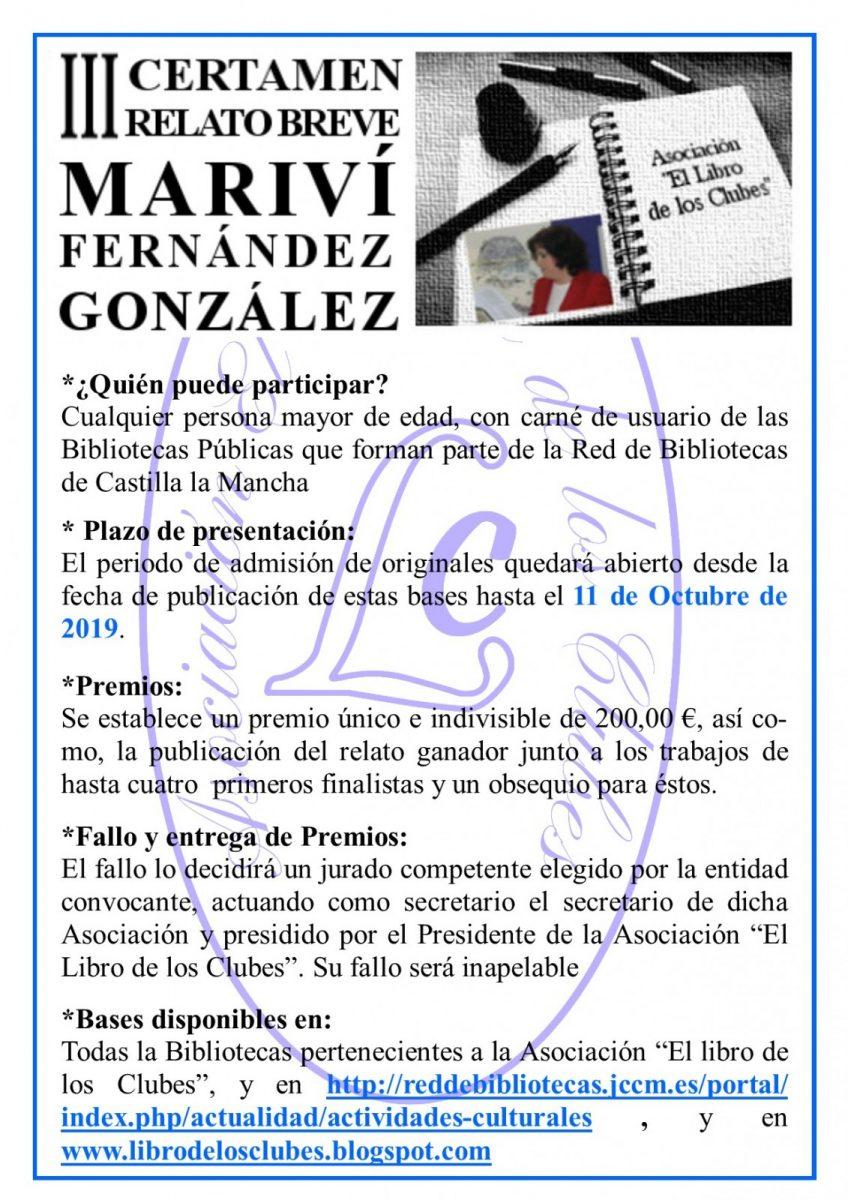 http://www.toledo.es/wp-content/uploads/2019/07/cartel-iii-certamen-2-848x1200.jpg. III CERTAMEN RELATO BREBE MARIVÍ FERNÁNDEZ GONZÁLEZ