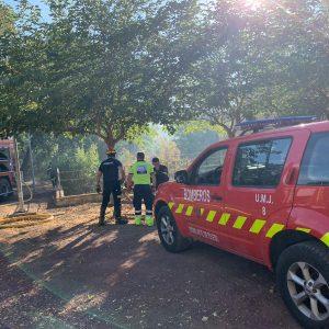 n bombero municipal resulta herido en las tareas de rescate de un menor en el incendio registrado detrás de la Fábrica de Armas