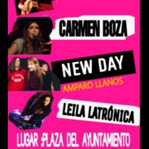 a plaza del Ayuntamiento acoge este viernes el primer Woman Fest, con Marilia, Amparo Llanos, Carmen Boza y Leila Latrónica