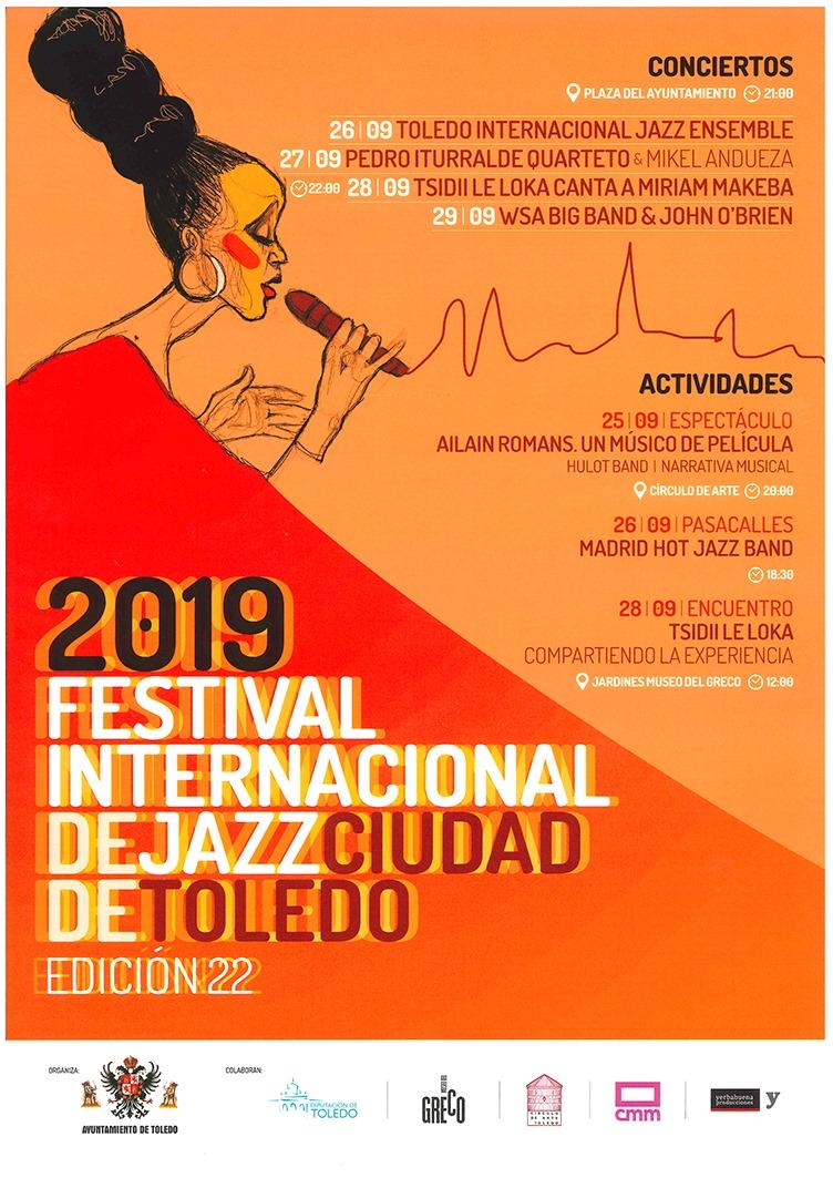 http://www.toledo.es/wp-content/uploads/2019/08/69565161_939807336386881_4890261548615860224_o.jpg. El Festival Internacional de Jazz contará con Pedro Iturralde y Tsidii Le Loka