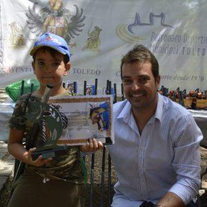 ateo Díaz obtiene la pieza de mayor peso en el XVI Trofeo de Pesca Infantil 'Feria Ciudad de Toledo' que contó con 34 inscritos