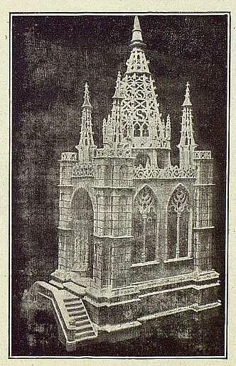 003_TRA-1919-116 - Capilla gótica de madera del artista Esteban Jiménez