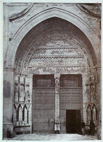 014_TRA-1925-218-Catedral, detalle puerta del Reloj-Foto Rodríguez