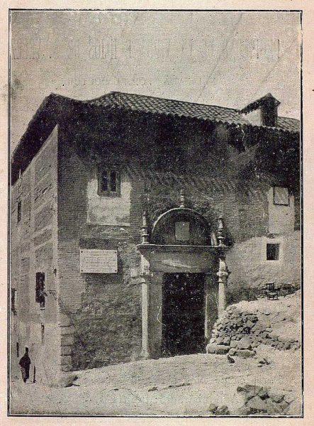 018_TRA-1921-167-Calle Real, casa donde fue muerto el poeta Baltasar Eliseo de Medinilla-Foto Camarasa