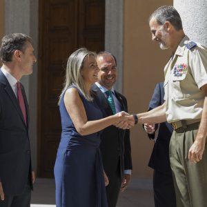 ilagros Tolón asiste a la recepción de Su Majestad el Rey Felipe VI en el Museo del Ejército