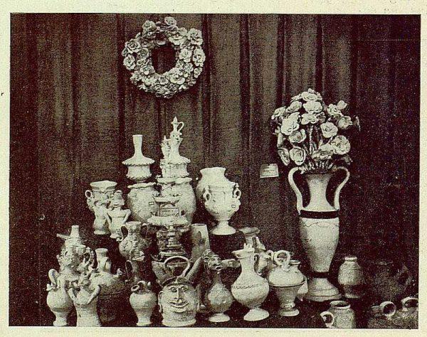 020_TRA-1929-269 - Exposición Regional de Bellas Artes e Industrias, Sinagoga de Santa María la Blanca, carámica de Ocaña - Foto Rodríguez