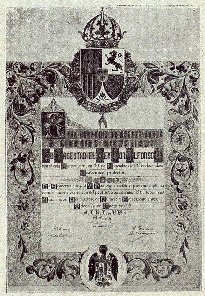 026_TRA-1918-100 - Pergamino por el que se nombra a Alfonso XIII Académico protector de la Escuela de Artes y Oficios